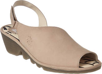 Fly London Palp Leather Wedge Sandal