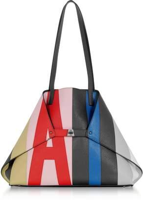 Akris Colorblock Leather Ai Medium Tote Bag