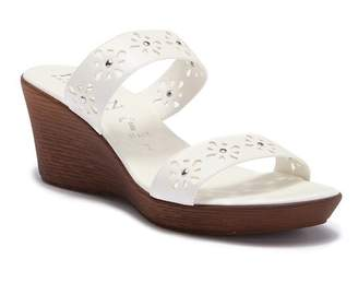 Italian Shoemakers Syd Laser-Cut Wedge Sandal