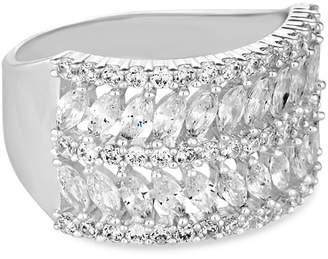 Jon Richard Pave Leaf Ring