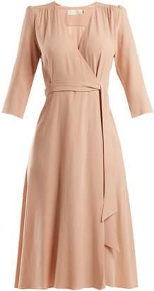 Goat Glenda cady wrap dress
