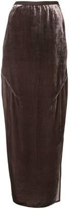 Rick Owens long velvet skirt