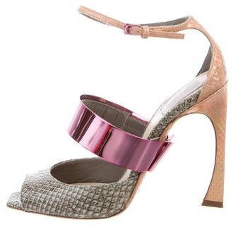 Christian Dior Python Metallic Sandals