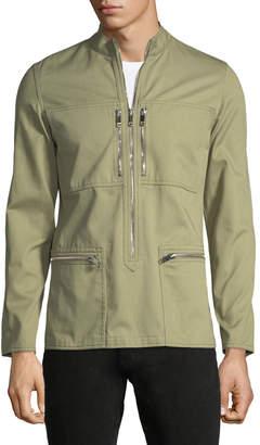 Valentino Stand-Collar Cargo Utility Jacket