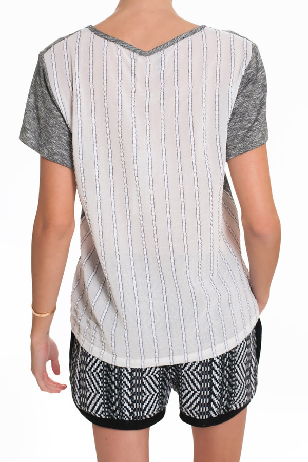 Sea Striped Back Tee