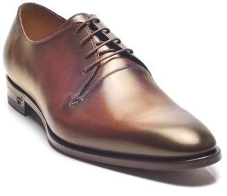 Gucci Men's Leather Lace-up Oxford Shoes Brown