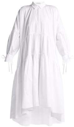 Cecilie Bahnsen - Cleo Oversized Cotton Shirtdress - Womens - White
