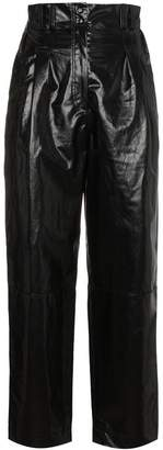 Philosophy di Lorenzo Serafini Coated linen cropped trousers