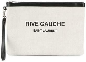 Saint Laurent logo pouch
