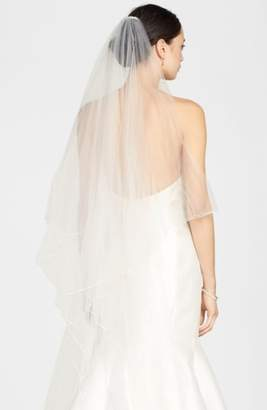 TONI FEDERICI 'Karma' Double Layer Ribbon Edge Veil