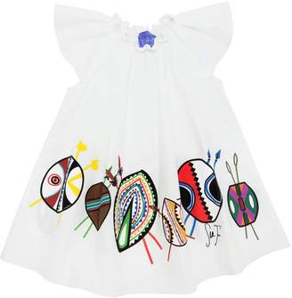 Stella Jean Maasai Print Cotton Poplin Dress