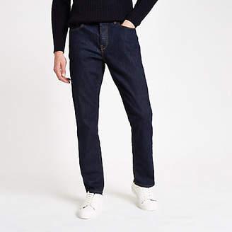 River Island Dark blue Dean straight leg jeans