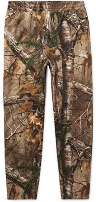 Stussy + Realtree Tapered Camouflage-Print Fleece-Back Cotton-Blend Jersey Sweatpants