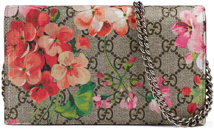 GG Blooms Supreme chain wallet