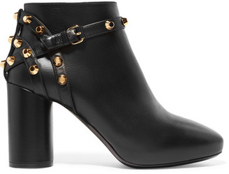 Balenciaga - Studded Leather Ankle Boots - Black $1,075 thestylecure.com