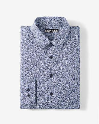 Express Classic Floral Print Dress Shirt