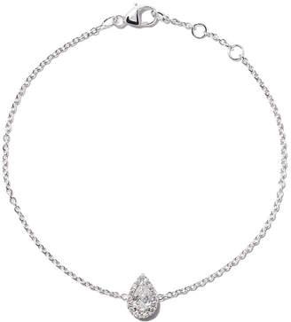 De Beers 18kt white gold My First Aura pear cut diamond bracelet