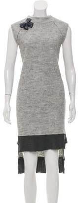 Nicole Miller Wool-Blend Midi Dress w/ Tags
