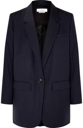 Etoile Isabel Marant Nerix Houndstooth Wool Blazer - Midnight blue