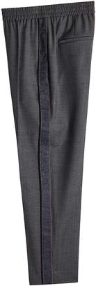Brunello Cucinelli Virgin Wool Pants with Bead Embellishment