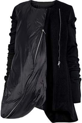 Rick Owens Winter Heron Shell, Brushed-felt, And Wool Down Jacket