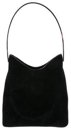 Gucci Metal Frame Suede Hobo