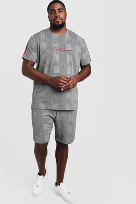 boohoo Big & Tall MAN Signature T-Shirt & Short Set
