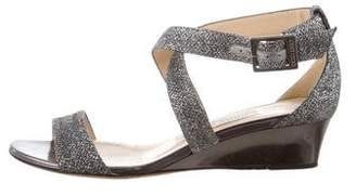 Jimmy Choo Glitter Wedge Sandals