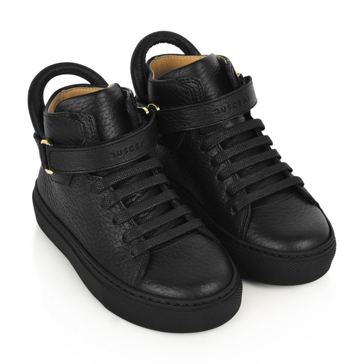 Buscemi BuscemiBlack Leather 100MM High Tops
