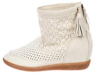 Isabel Marant Suede Perforated Ankle Boots