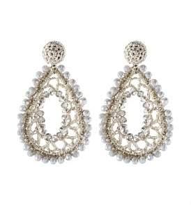 The Two Mrs Grenvilles Crochet Oval Drop Earring