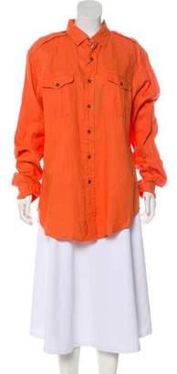 Polo Ralph Lauren Long Sleeve Button-Up Top