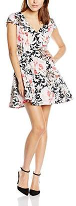 Glamorous Women's Printed A-Line Floral Short Sleeve Dress,8 (Manufacturer Size:X-Small)