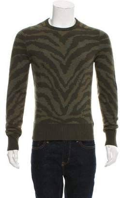 Michael Bastian Animal Print Crew-Neck Sweater