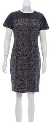 MICHAEL Michael Kors Faux Leather Printed Dress w/ Tags