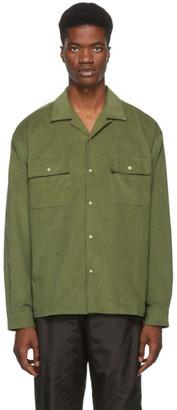 John Elliott Green Corduroy Snap Shirt