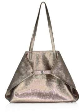 Akris Medium Ai Hammered Leather Shoulder Bag
