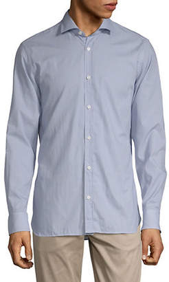 Ermenegildo Zegna Geo Print Button-Down Shirt