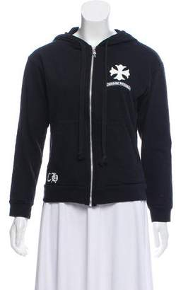 Chrome Hearts Hooded Zip-Up Sweater