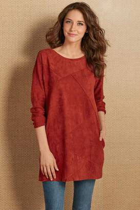 Soft Surroundings Felicity Faux Suede Tunic