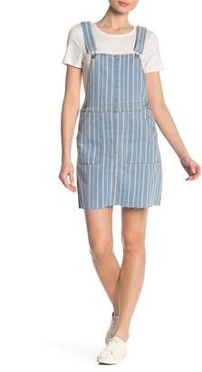 Love, Fire Denim Stripe Pinafore
