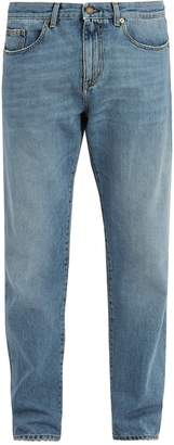 Saint Laurent Distressed straight-leg jeans