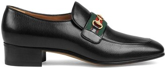 Gucci leather loafers with GG Horsebit