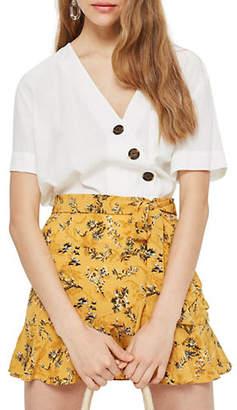 Topshop PETITE Floral-Print Mini Skirt