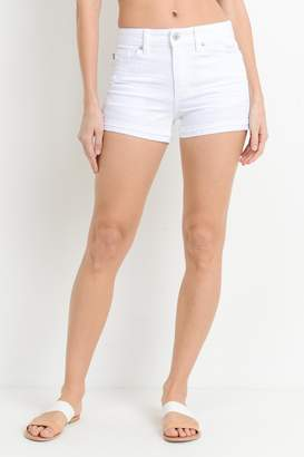 Just USA Cuffed White Short