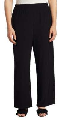 Caroline Rose Plus Wide-Leg Ankle Pants