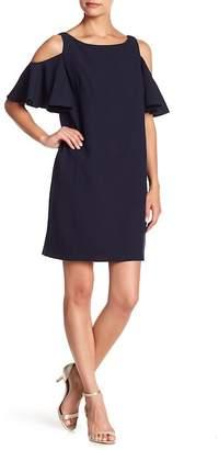 Chetta B Cold Shoulder Shift Dress