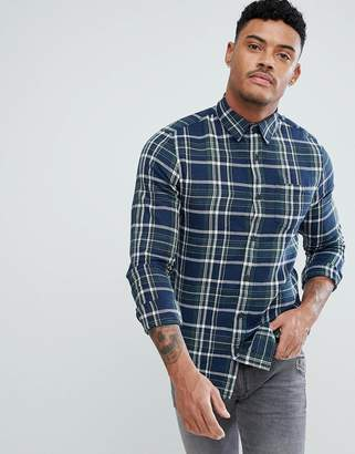 New Look Regular Fit Shirt In Blue And Green Check