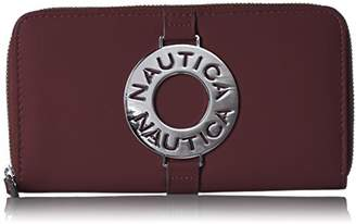 Nautica Ladies That Sail Zip Around Wallet Clutch With Rfid Blocking Wallet