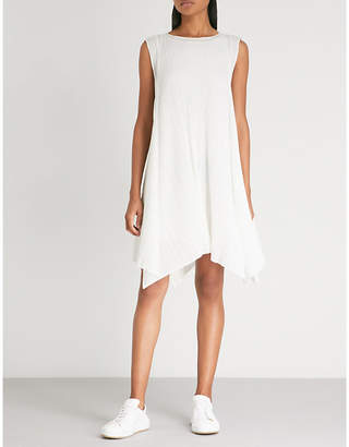 Pleats Please Issey Miyake Handkerchief-hem pleated dress